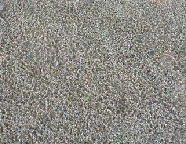 sur terrain plat, chaque goutte d'eau provoque un cratère