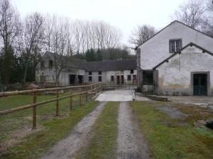 passerelle privée permettant l'accès au moulin